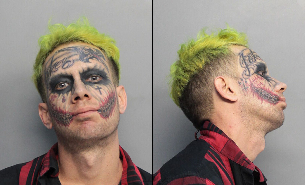 Miami 'Joker' lookalike busted for pointing loaded gun at drivers