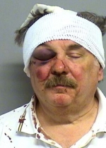 Arrested for assault and battery, resisting an officer.