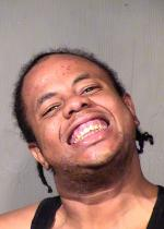 Arrested for criminal damage.