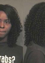 Arrested for criminal damage to property.