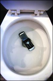Cell Phone in Toilet