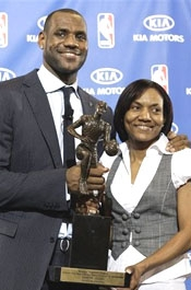 LeBron James and Gloria James