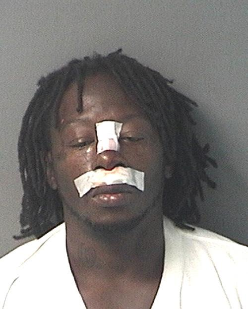 Arrested for a statue violation.