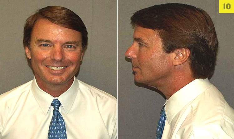 John Edwards, former U.S. Senator and Democratic vice presidential candidate, po