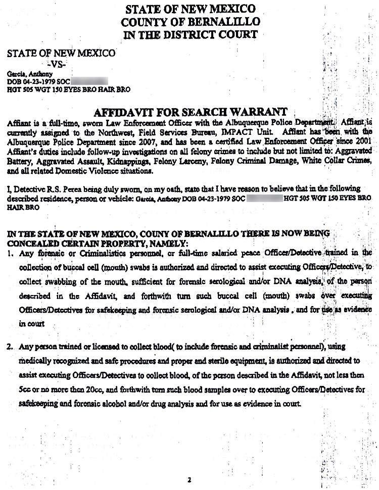 Affidavit For Arrest Warrant Examples Jpg 750x970