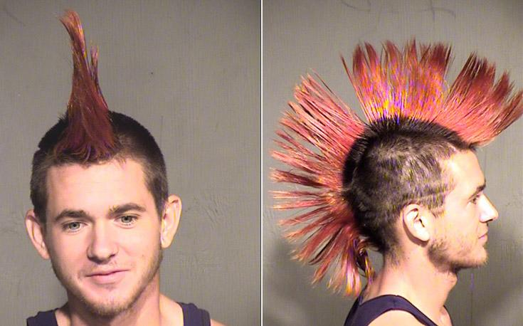 Arrested for pot possession, paraphernalia possession.
