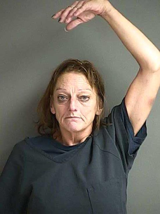 Arrested for meth possession.