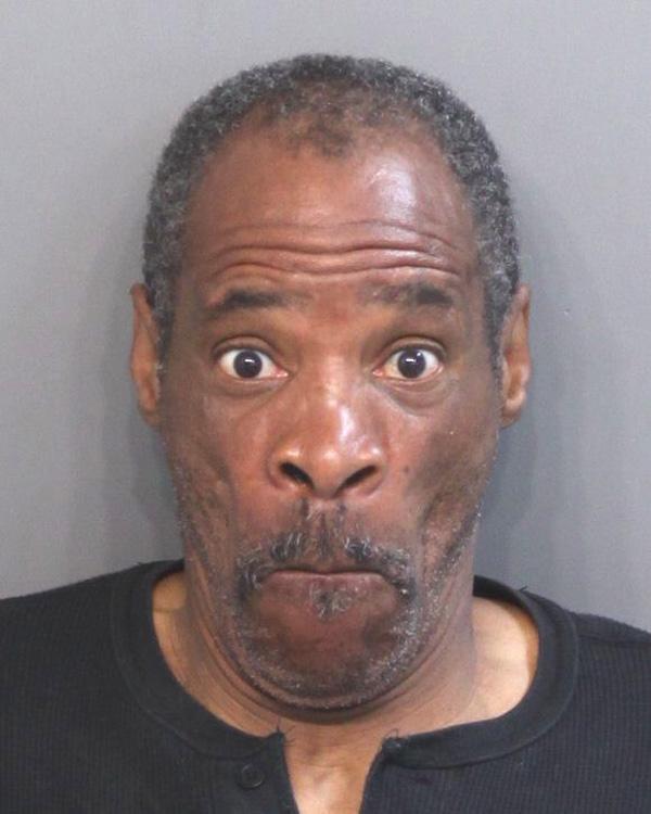 Arrested for harassment, theft.