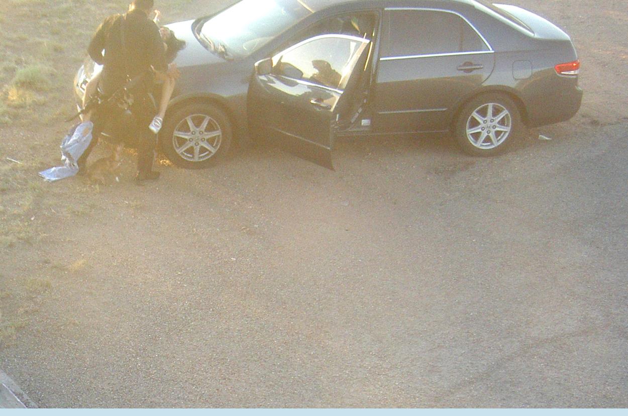 Billeder uniformerede Cop Fanget have sex med Kvinde på Hood af bil The Smoking Gun-6541