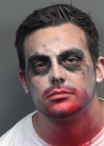 Arrested for being an intoxicated pedestrian.