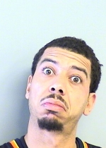 Arrested for resisting officers, public intoxication.