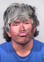 Arrested for consuming liquor in public, assault.