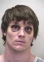 Arrested for a probation violation.