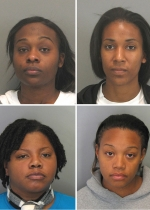 The sorority hazing arrestees pictured here are, clockwise from upper left, Prin