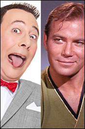Pee-Wee and Capt. Kirk