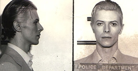 David Bowie mug shot