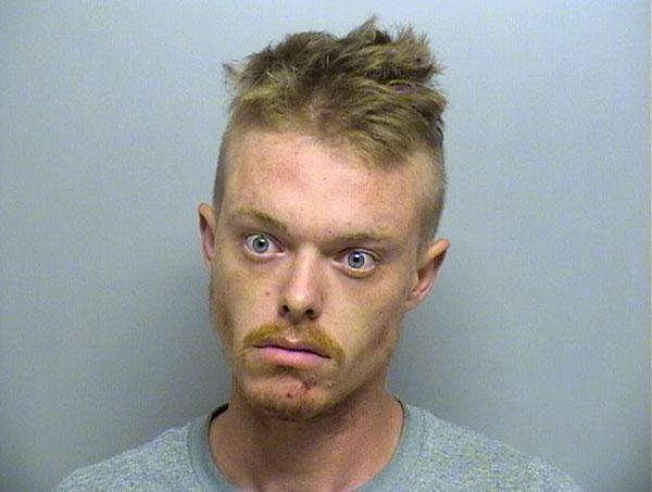 Arrested for possession of stolen property, narcotics possession.