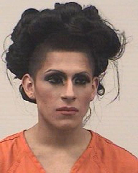 Arrested for harassing communications.