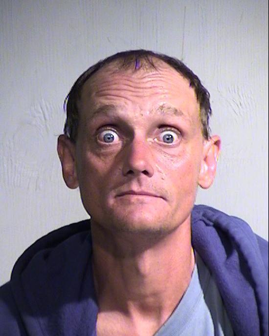 Arrested for probation violation.