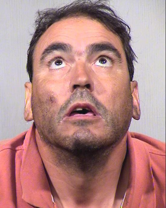 Arrested for trespassing, resisting arrest.