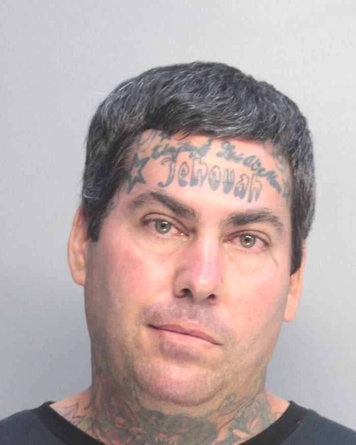Arrested for robbery, battery, and disorderly conduct.