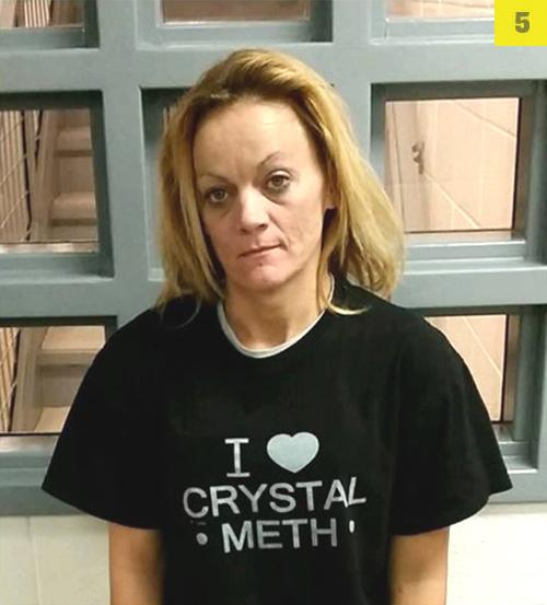 Arrested for possession of crystal meth.