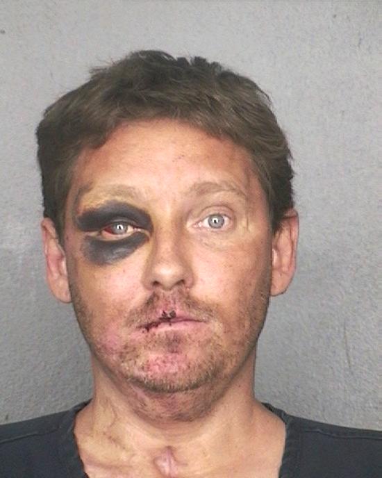 Arrested for drug possession, resisting an officer.