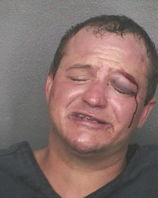 Arrested for disorderly intoxication.