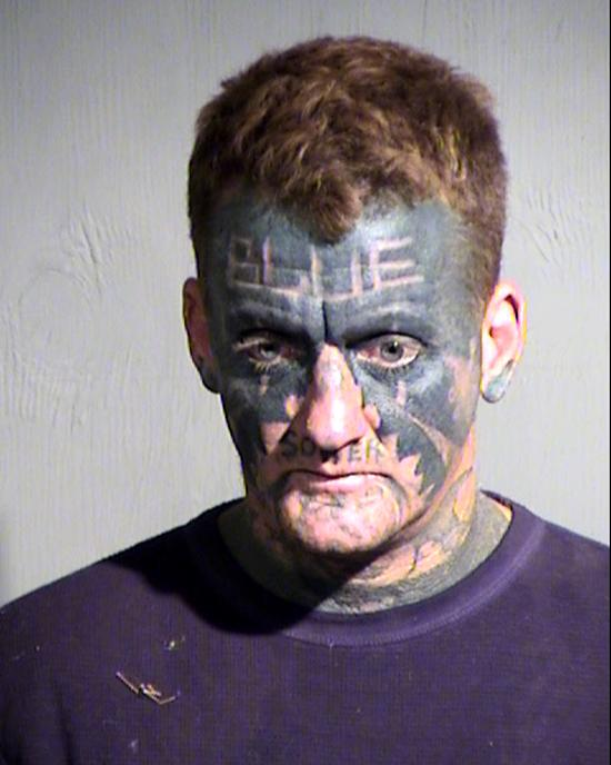 Arrested for assault with a deadly weapon, criminal damage.