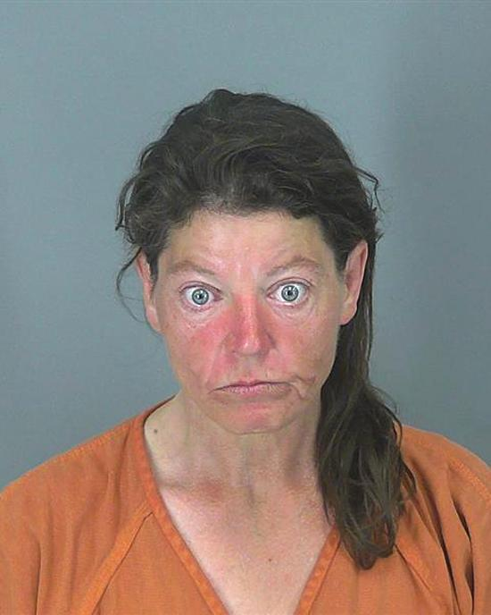 Arrested for assault and battery, trespassing.