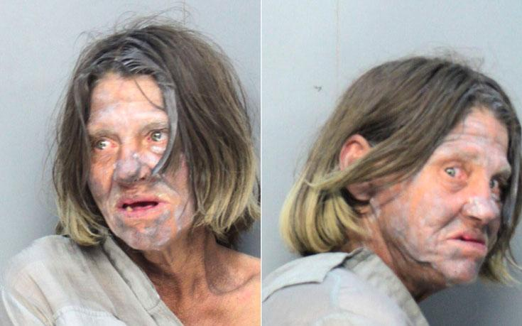 Arrested for indecent exposure, resisting arrest, and battery.