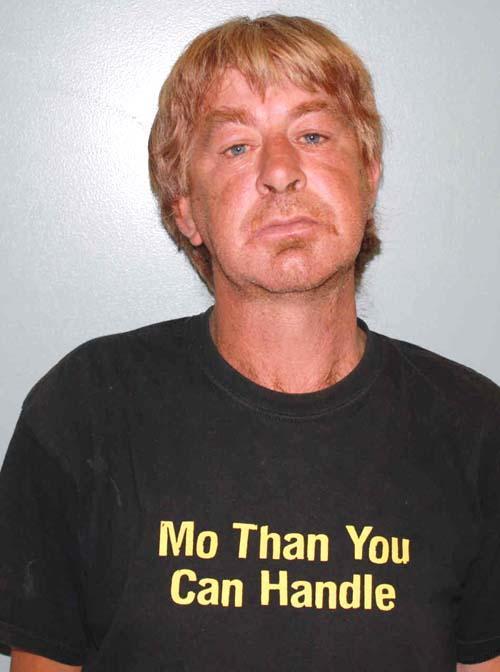 Arrested for indecent exposure, public drunkenness, and using obscene language.